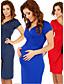 Χαμηλού Κόστους Γυναικεία Φορέματα-Γυναικείο Καθημερινά Σέξι Φαρδιά Φόρεμα,Μονόχρωμο Κοντομάνικο Στρογγυλή Λαιμόκοψη Πάνω από το Γόνατο Βαμβάκι Όλες οι εποχές Κανονική Μέση