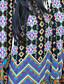 Bayanlar Orta Polyester ½ Kol Uzunluğu Kayık Yaka Yaz Çiçekli Sade Günlük/Sade Siyah / Yeşil-Bayanlar Bluz
