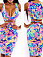 Naisten Kaarituettomat,Multi-piece Kukkakuvio plunging Pääntie,Polyesteri Nylon Hihnoilla Kukkakuvio