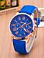 preiswerte Modische Uhren-Geneva Damen Armbanduhr Armbanduhren für den Alltag Leder Band Freizeit / Modisch Schwarz / Weiß / Blau / Ein Jahr / Tianqiu 377