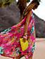 Ženski Jednodijelno-Bandeau grudnjak-Jednodijelno-S cvjetnim printom-Šifon