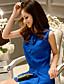 olcso Női blúzok és tunikák-dabuwawa női kék színű blúz, kerek nyakú ujjatlan