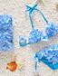preiswerte Badebekleidung für Mädchen-Mädchen Unterwäsche Blumen Acryl Ganzjährig Blumig Dehnbar Purpur Rot Grün Blau Rosa