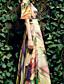 abordables Vestidos de Mujer-BORME® Mujer Escote Redondo Manga Corta Maxi Vestidos-W025