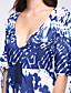 olcso Maxi ruhák-Szexi / Vintage Egyenes Női Ruha,Virágos Maxi V-alakú Poliészter / Spandex