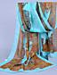 baratos Echarpes Coloridas de Chiffon-Mulheres Férias Chiffon, Retângular - Estampado / Amarelo / Vermelho / Azul / Verde / Cinzento