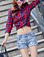 Damen Einfach Street Schick Mittlere Hüfthöhe Mikro-elastisch Kurze Hosen Jeans Gerade Hose Solide