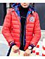 billige Dunjakker og parkaser til herrer-Herre Dun Langermet Frakk,Enkel Fritid/hverdag Ensfarget-Nylon Hvitt andedun Blå / Rød / Oransje / Gul