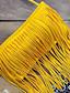 זול 2017ביקיני ובגדי ים-צהוב פרנזים בוהו בגדי ים ביקיני דפוס רצועות בד נשים