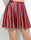 cheap Women's Skirts-Women's Slim Mini Skirts Green Pleated Beach Skirt Yellow Check Plaid Print Casual Skirts Spandex Stretchy