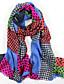 cheap Fashion Scarves-Women's Fashion 100% Wool  Printed Scarf