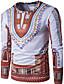 baratos Camisetas & Regatas Masculinas-Camiseta - Esportes Boho Estampado, Tribal Algodão Delgado / Manga Longa
