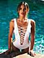 billige Bikinier og damemote 2017-Dame Store størrelser Stikkende halslinje En del - Blondér, Underbukser Ensfarget