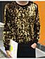 남성 맨투맨 스웻티셔츠 캐쥬얼/데일리 클럽 솔리드 라운드 넥 면 약간의 신축성 긴 소매 스프링