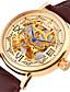 levne Kůže-Pánské Módní hodinky mechanické hodinky Automatické natahování Kalendář Voděodolné Kůže Kapela Hnědá