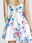 cheap Women's Dresses-Women's Off The Shoulder/Backless Beach/Casual Sleeveless Dresses (Cotton Blend)