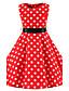 cheap Girls' Dresses-Girl's Polka Dot Dress,Cotton All Seasons Sleeveless Dot Red
