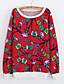 cheap Women's Hoodies & Sweatshirts-Women's Daily Sweatshirt Print Round Neck Micro-elastic Rayon Long Sleeve Winter