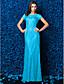 preiswerte Abendkleider-Eng anliegend Illusionsausschnitt Boden-Länge Spitze Abiball / Formeller Abend / Gala Kleid mit Spitze durch TS Couture®