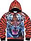 preiswerte Herren Pullover-Herren Kapuzenshirt Lässig/Alltäglich Leopard V-Ausschnitt Unelastisch Polyester Lange Ärmel Winter