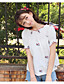 رخيصةأون قمصان نسائية-نساء قميص ذهاب للخارج مثير سادة ورد باتو كم قصير قطن