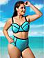 cheap Women's Swimwear & Bikinis-Women's Push-up High Rise Halter Bikinis Plus Size