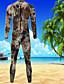 baratos Roupas de Mergulho & Camisas de Proteção-Bluedive Homens Macacão de Mergulho Longo 3mm Neoprene Roupas de Mergulho Manga Longa Zip posteriore - Mergulho / Surfe / Esportes Aquáticos Estampado / Côr Camuflagem Todas as Estações