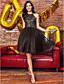 저렴한 프롬 드레스-볼 드레스 홀터 넥 무릎 길이 레이스 튤 칵테일 파티 / 댄스 파티 드레스 와 비즈 레이스 으로 TS Couture®
