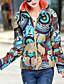preiswerte Damen Daunenjacken & Parkas-Damen Daunenjacke Mantel Einfach Aktiv Ausgehen Solide Gestreift Druck-Baumwolle Acryl Andere Polypropylen Langarm