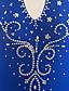 baratos Vestidos de Patinação no Gelo-Vestidos para Patinação Artística Mulheres Para Meninas Patinação no Gelo Vestidos Verde Azulado Pedrarias Elasticidade Alta Espetáculo