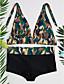 זול 2017ביקיני ובגדי ים-מכנס קולור בלוק, סגנון אמנותי - ביקיני בלוק צבע בגדי ריקוד נשים / קיץ / מראה ספורטיבי