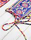 رخيصةأون ملابس السباحة والبيكيني 2017 للنساء-عالي الخصر طباعة, ترايبال - بيكيني العصابة دون الكتف بوهو للمرأة