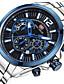 זול שעוני יוקרה-MINI FOCUS בגדי ריקוד גברים שעון יד Japanese לוח שנה / שעון עצר / שעונים יום יומיים מתכת אל חלד להקה פאר / יום יומי כסף