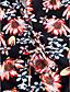 abordables Biquinis y Bañadores para Mujer-Mujer Una Pieza - Estampado, Floral Pícaro Escote