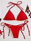 billige Bikinier og bademode 2017-Kvinders Nylon / Spandex Halterneck Ensfarvet / Kontor / Bedrift Bikini