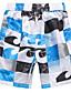 baratos Roupas de Banho Masculinas-Homens Esportivo Calcinhas, Shorts & Calças de Praia - Geométrica, Estampado Shorts de Natação / 1 Peça / Super Sexy