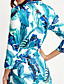 cheap Women's Dresses-Women's Street chic Cotton Sheath Dress Print Maxi V Neck
