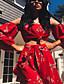 povoljno Ženski dvodijelni kostimi-Žene Puff rukav Osnovni Set - Jednobojni, Drapirano Hlače