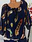 povoljno Bluza-Veći konfekcijski brojevi Bluza Žene - Osnovni / Tropical Dnevno Cvjetni print / Print / Perje Vezanje straga / Print Crn / Proljeće / Jesen