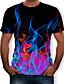 cheap Men's Tees & Tank Tops-Men's T-shirt - 3D Print Round Neck Black XXXXL