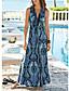 זול שמלות מקסי-V עמוק מקסי פרחוני הדפס נמר שמלה סווינג בוהו בגדי ריקוד נשים