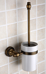 Toilet Brush Holder Removable Antique Brass 1 pc - Hotel bath