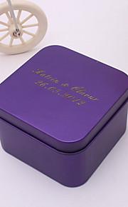 Créatif Rectangulaire Métal Titulaire de Faveur avec Motif Boîtes à cadeaux Cannette de cadeau