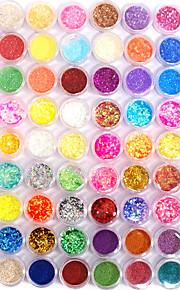 72 pcs Nail Jewelry / Glitter & Poudre / Decoration Kits Abstract / Fashion Daily Nail Art Design