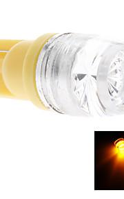 t10 1.5W Ampoule LED jaune pour lampe constructeur automobile latéral (DC 12V)