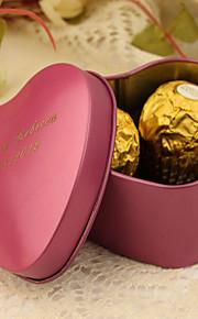 Cœur Créatif Etain Titulaire de Faveur avec Motif Boîtes à cadeaux Cannette de cadeau