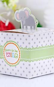nydelig elefant baby shower favør boksen (sett med 12)