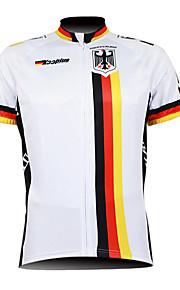Kooplus Homme Manches Courtes Maillot de Cyclisme - Blanc Vélo Maillot, Respirable