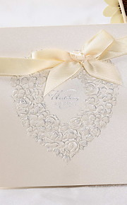 """Top Fold Wedding Invitations 50 - Invitation Cards Classic Style Floral Style Pearl Paper 6""""×6"""" (15*15cm)"""