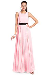 Γραμμή Α Με Κόσμημα Μακρύ Σιφόν Χοροεσπερίδα   Επίσημο Βραδινό Φόρεμα με  Κρυστάλλινη λεπτομέρεια   Πλισέ e9860bb6696